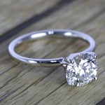 1.50 Carat Round Cut Diamond with White Gold Solitaire Setting - small angle 3