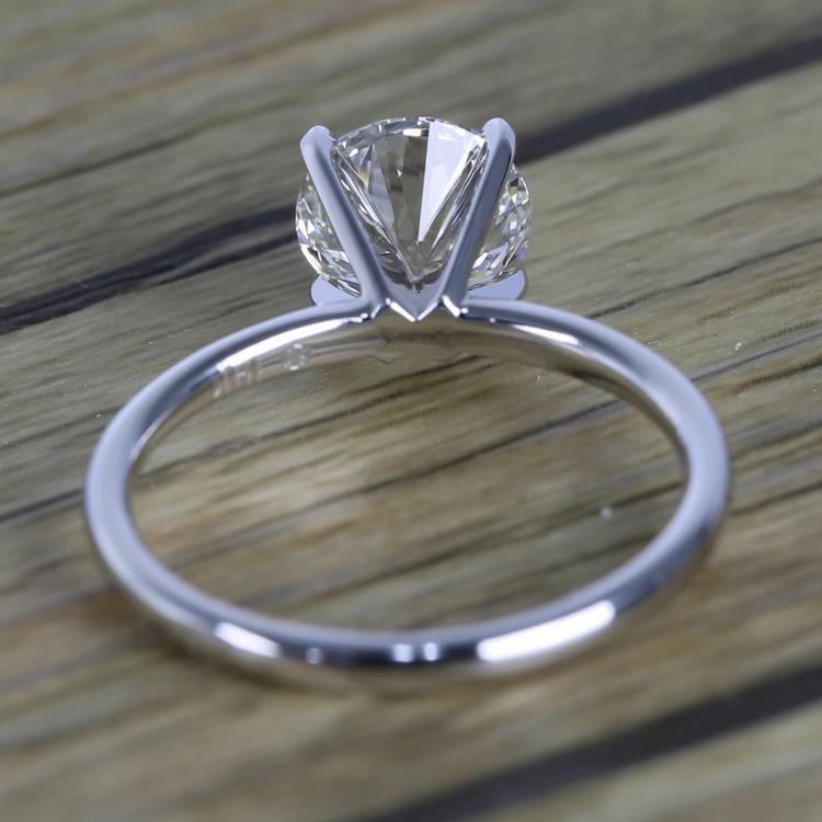 1.50 Carat Round Cut Diamond with White Gold Solitaire Setting angle 4