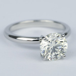 Ideal Round Diamond Solitaire Engagement Ring (1.75 Carat) - small angle 3