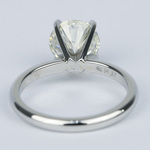 Ideal Round Diamond Solitaire Engagement Ring (1.75 Carat) - small angle 4
