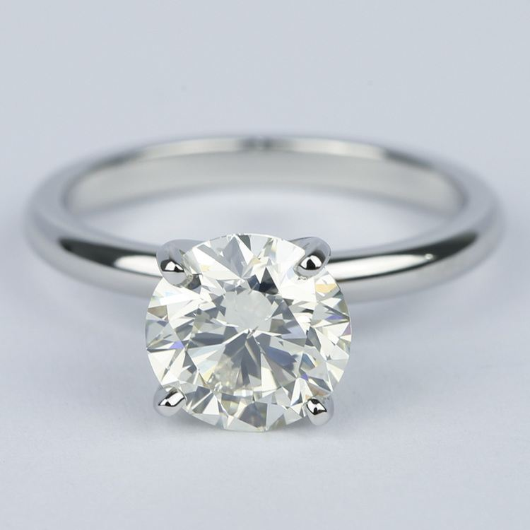 Ideal Round Diamond Solitaire Engagement Ring (1.75 Carat)
