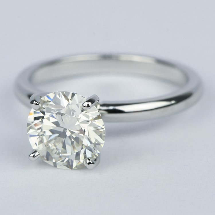 Ideal Round Diamond Solitaire Engagement Ring (1.75 Carat) angle 2
