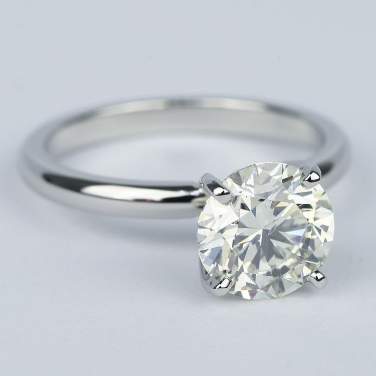 Ideal Round Diamond Solitaire Engagement Ring (1.75 Carat) angle 3