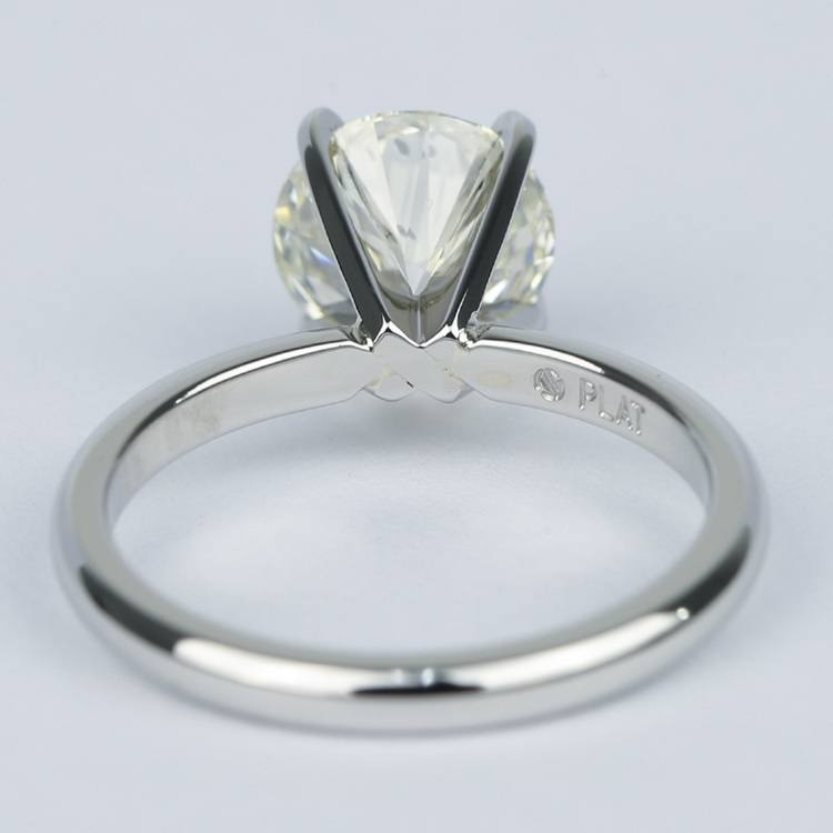 Ideal Round Diamond Solitaire Engagement Ring (1.75 Carat) angle 4