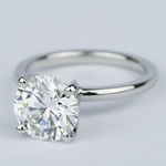 2 Carat Round Diamond Solitaire Ring in Platinum - small angle 2