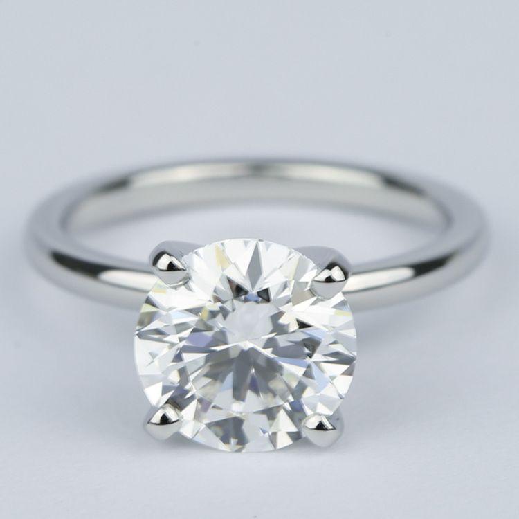 2 Carat Round Diamond Solitaire Ring in Platinum