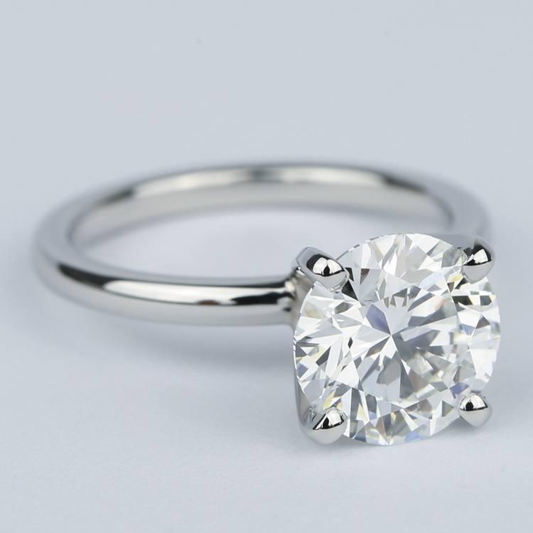 2 Carat Round Diamond Solitaire Ring in Platinum angle 3