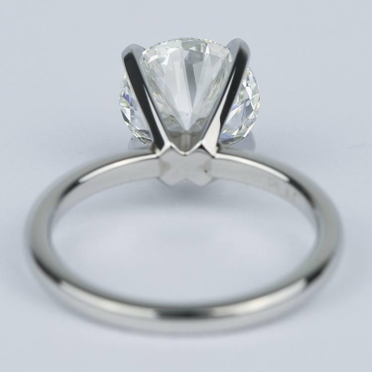 2 Carat Round Diamond Solitaire Ring in Platinum angle 4
