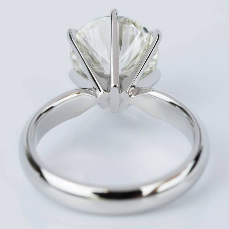 Comfort-Fit Solitaire Engagement Ring in Platinum (2.53 ct.) angle 4