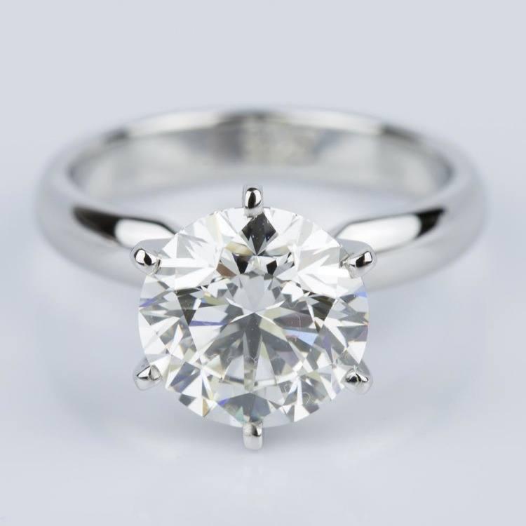 Comfort-Fit Solitaire Engagement Ring in Platinum (2.53 ct.)