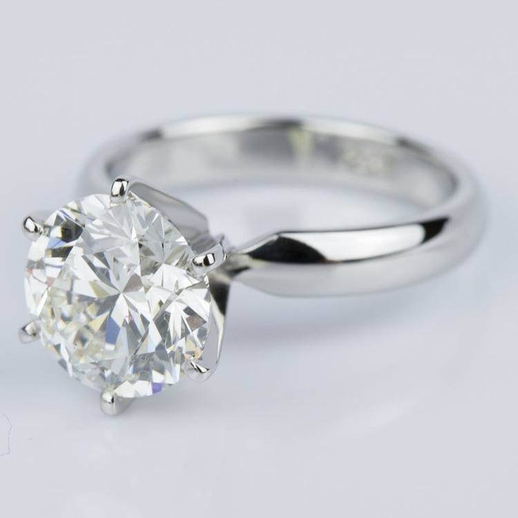 Comfort-Fit Solitaire Engagement Ring in Platinum (2.53 ct.) angle 2