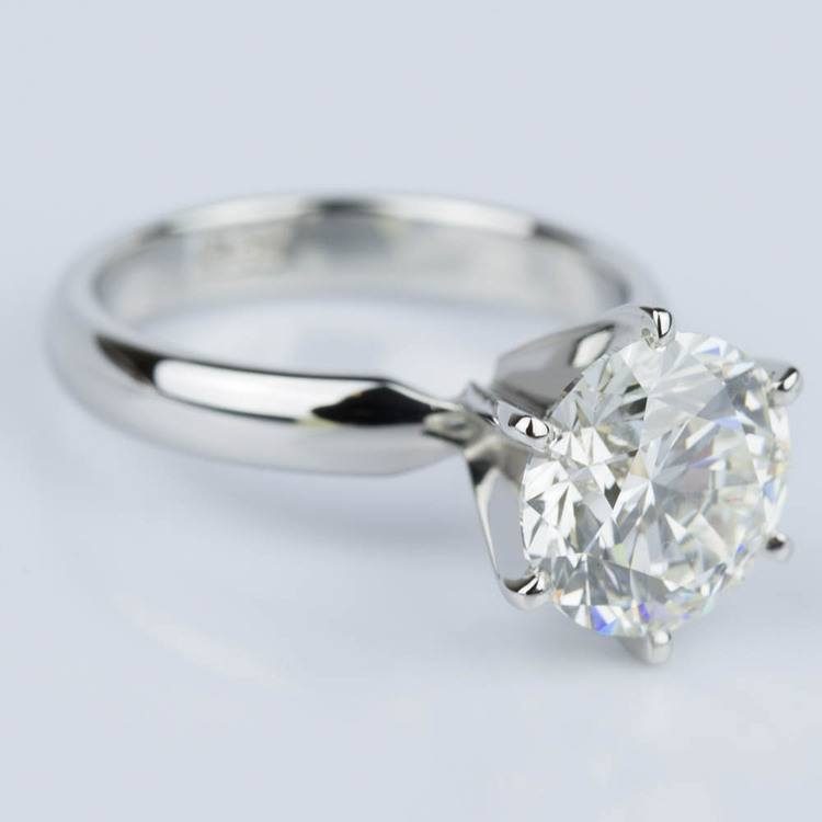 Comfort-Fit Solitaire Engagement Ring in Platinum (2.53 ct.) angle 3