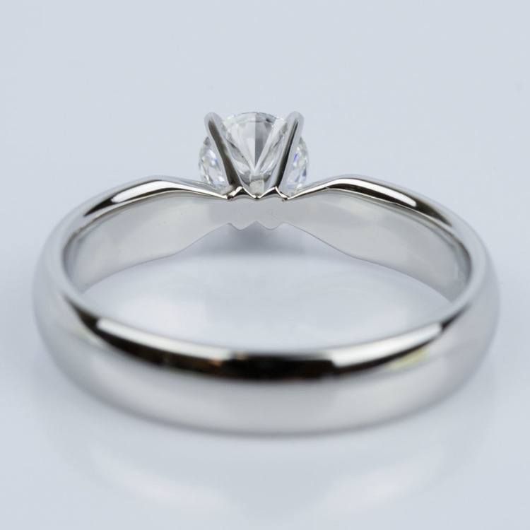 Comfort-Fit Solitaire Engagement Ring in Platinum (0.50 ct.) angle 4