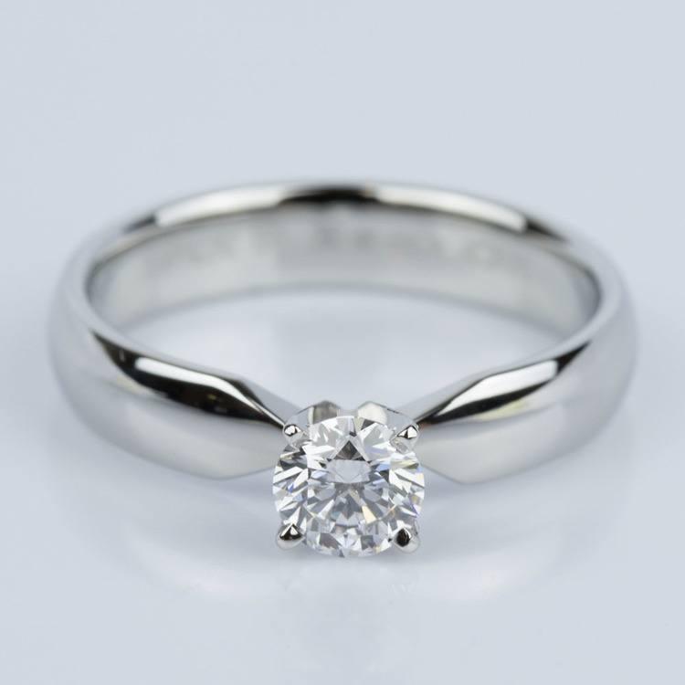 Comfort-Fit Solitaire Engagement Ring in Platinum (0.50 ct.)