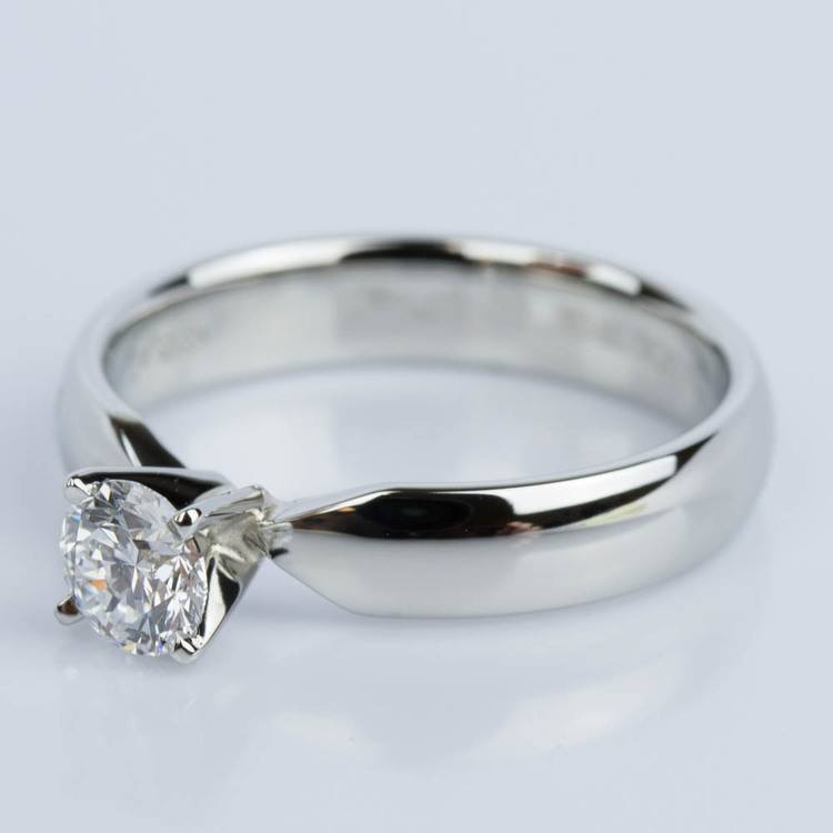 Comfort-Fit Solitaire Engagement Ring in Platinum (0.50 ct.) angle 2