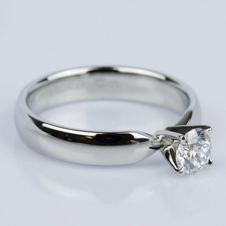 Comfort-Fit Solitaire Engagement Ring in Platinum (0.50 ct.) angle 3