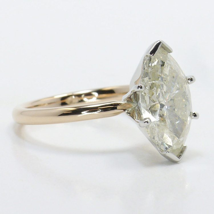 Comfort-Fit Solitaire Engagement Ring in Rose Gold  angle 3