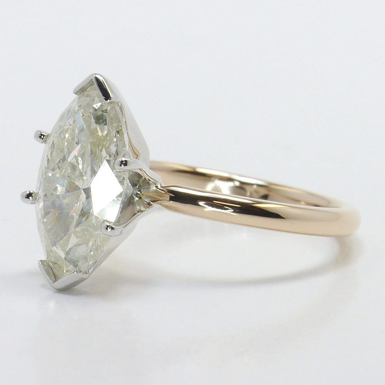 Comfort-Fit Solitaire Engagement Ring in Rose Gold  angle 2