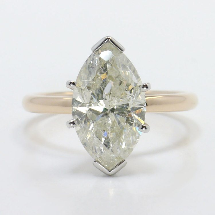 Comfort-Fit Solitaire Engagement Ring in Rose Gold