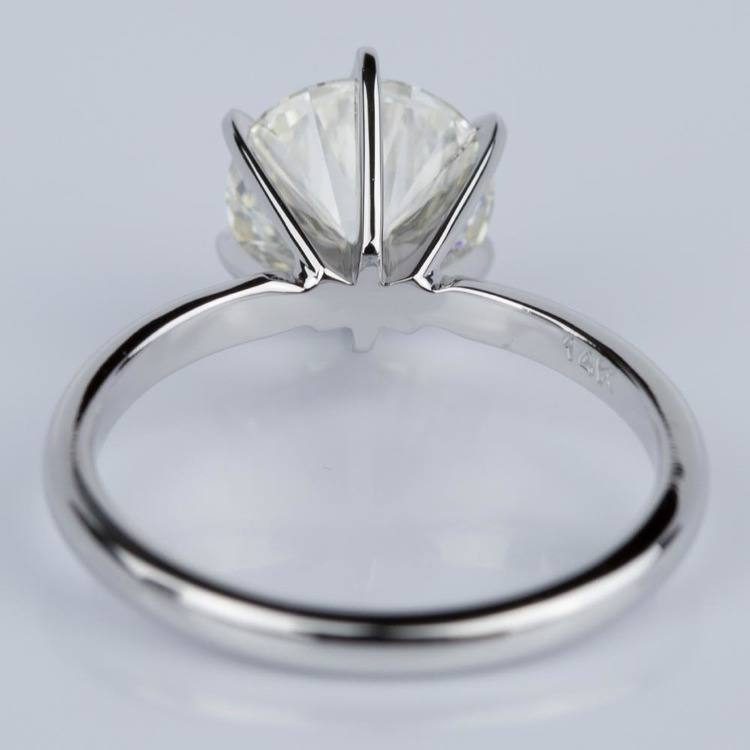 Comfort-Fit Solitaire Engagement Ring in White Gold (1.81 ct.)  angle 4