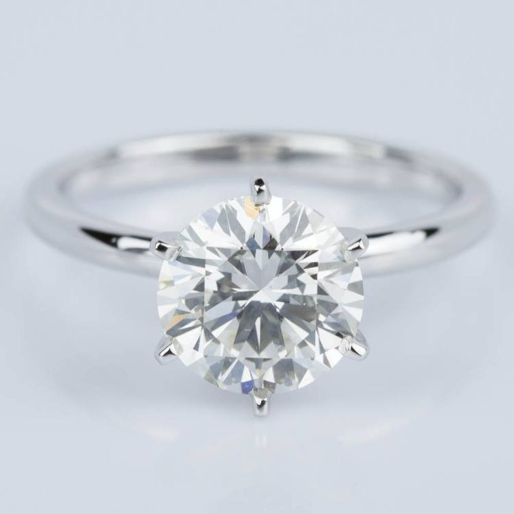 Comfort-Fit Solitaire Engagement Ring in White Gold (1.81 ct.)