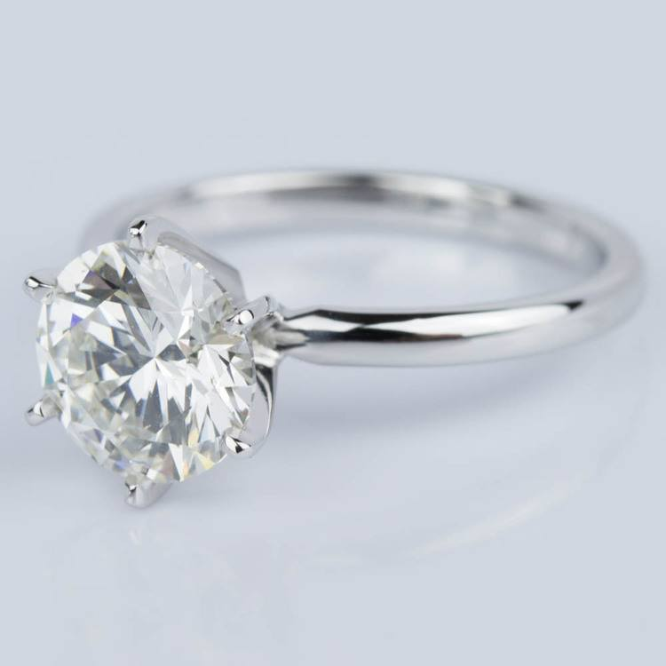 Comfort-Fit Solitaire Engagement Ring in White Gold (1.81 ct.)  angle 2