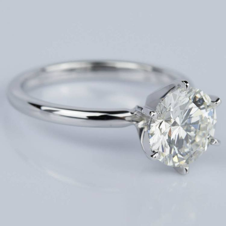 Comfort-Fit Solitaire Engagement Ring in White Gold (1.81 ct.)  angle 3