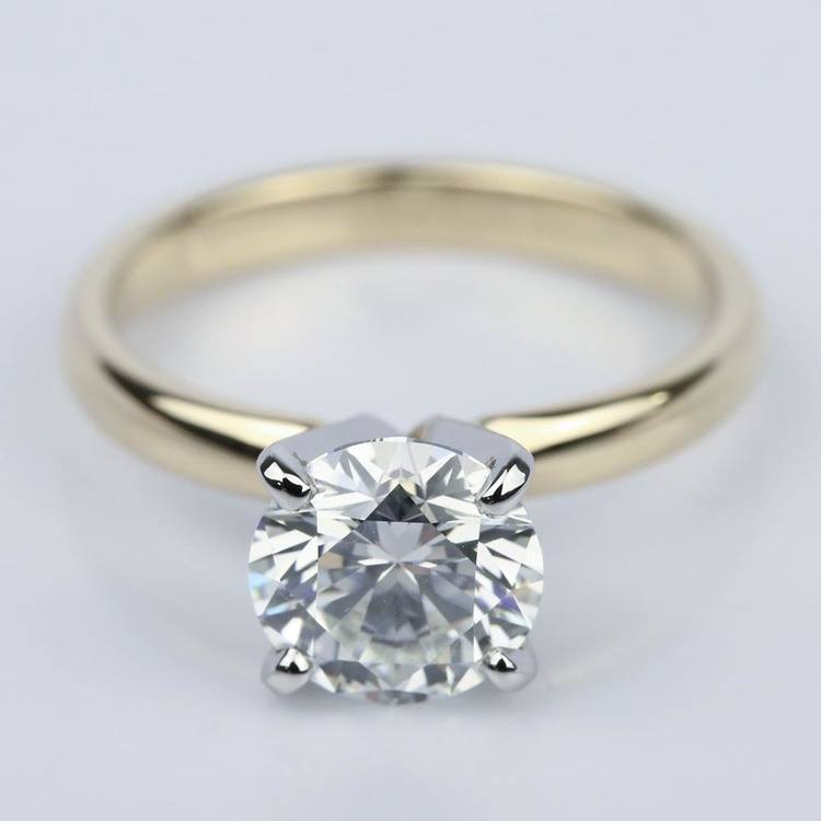 Comfort-Fit Solitaire Engagement Ring in Yellow Gold (1.55 ct.)