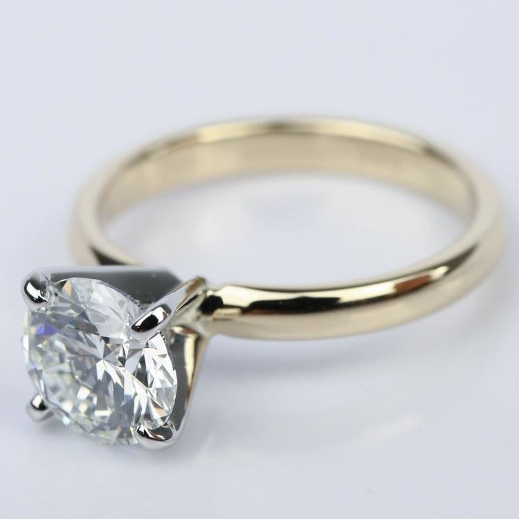 Comfort-Fit Solitaire Engagement Ring in Yellow Gold (1.55 ct.) angle 2