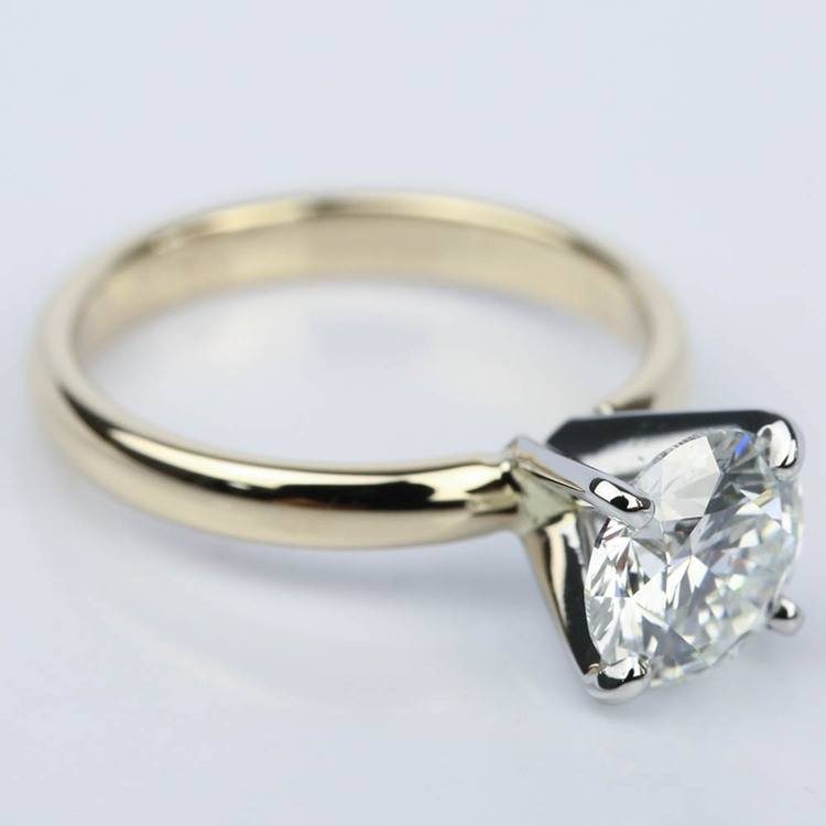 Comfort-Fit Solitaire Engagement Ring in Yellow Gold (1.55 ct.) angle 3