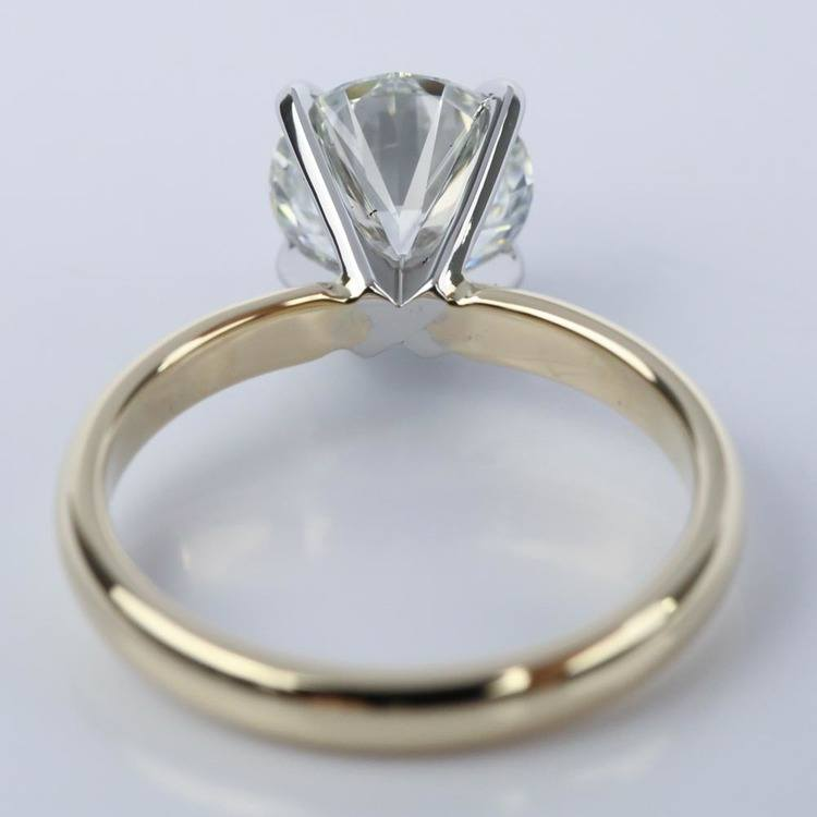Comfort-Fit Solitaire Engagement Ring in Yellow Gold (1.55 ct.) angle 4