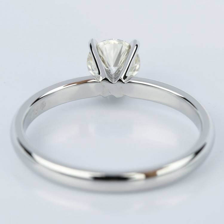 Comfort-Fit Round Solitaire Four Prong Engagement Ring in Platinum (0.75 ct.)  angle 4