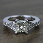 Contemporary Custom Princess Diamond Engagement Ring (1.22 Carat) - small