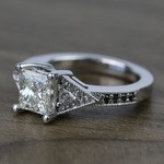 Contemporary Custom Princess Diamond Engagement Ring (1.22 Carat) - small angle 2