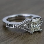Contemporary Custom Princess Diamond Engagement Ring (1.22 Carat) - small angle 3