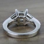 Contemporary Custom Princess Diamond Engagement Ring (1.22 Carat) - small angle 4