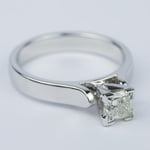 Contour Princess Diamond Engagement Ring (0.80 ct.) - small angle 3