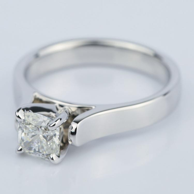 Contour Solitaire Engagement Ring with Cushion Diamond (0.90 ct.) angle 2