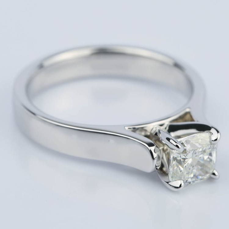 Contour Solitaire Engagement Ring with Cushion Diamond (0.90 ct.) angle 3