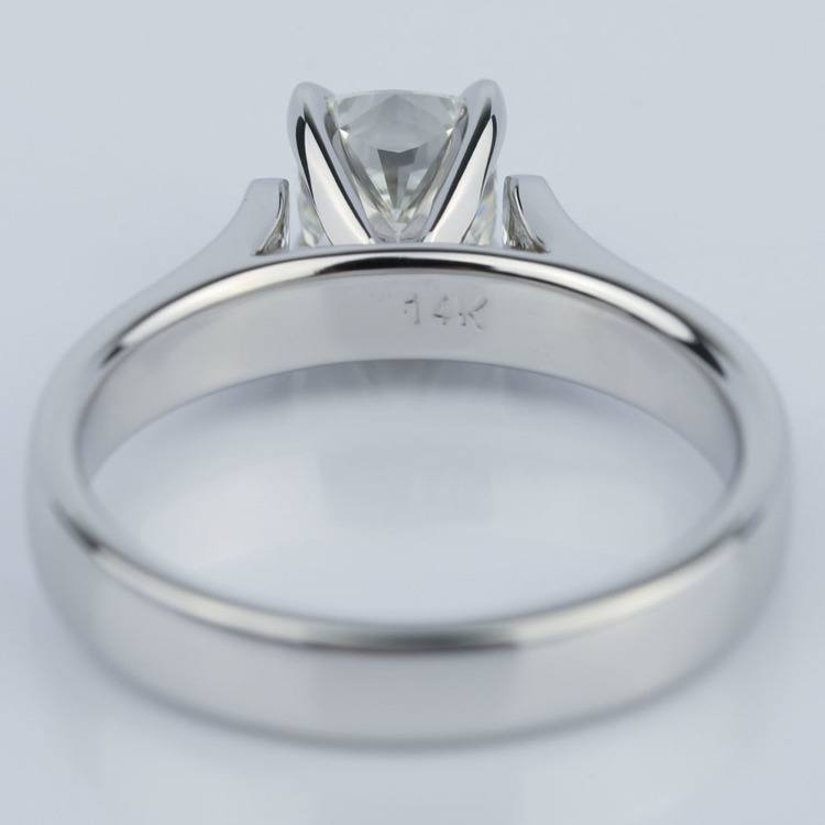 Contour Solitaire Engagement Ring with Cushion Diamond (0.90 ct.) angle 4