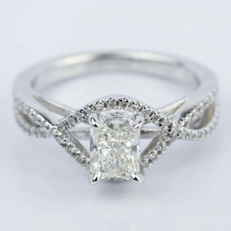 Cross Shank Radiant Diamond Engagement Ring (0.90 ct.)