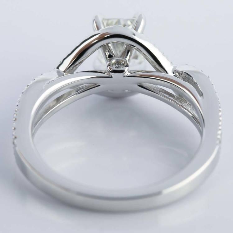 Cross Shank Radiant Diamond Engagement Ring (0.90 ct.) angle 4