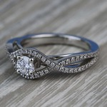 Cross Split-Shank 0.33 Carat Round Diamond Engagement Ring - small angle 2