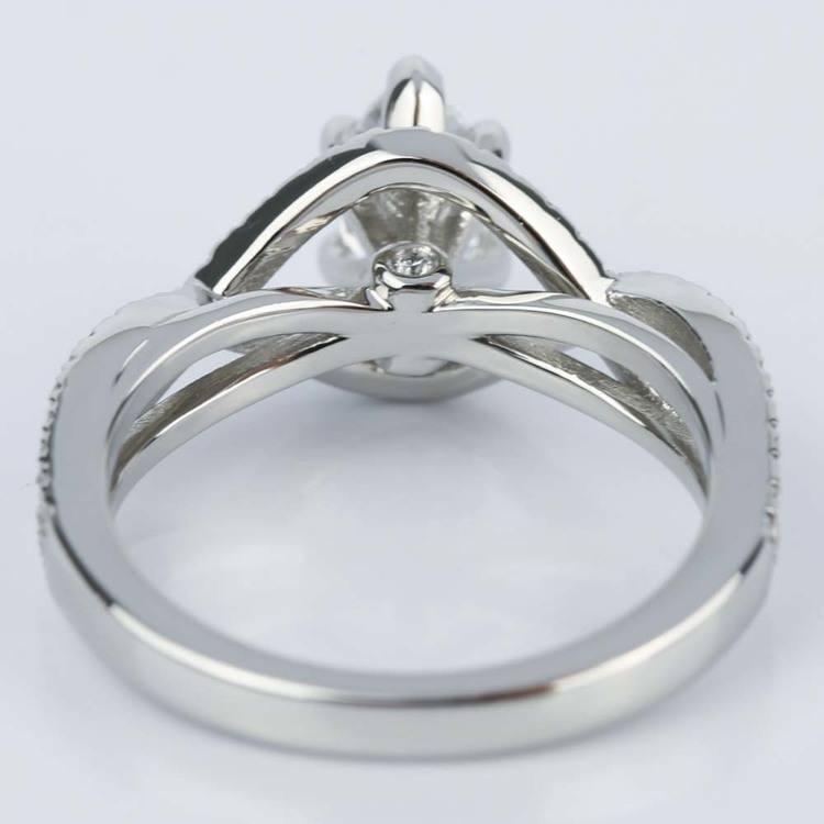 Cross Split Shank 0.71 Carat Marquise Diamond Engagement Ring angle 4