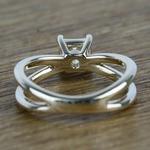 Cross Split Shank 0.80 Carat Princess Solitaire Diamond Engagement Ring - small angle 4