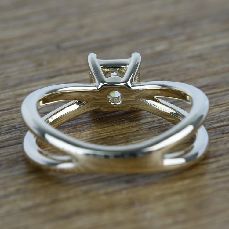 Cross Split Shank 0.80 Carat Princess Solitaire Diamond Engagement Ring angle 4
