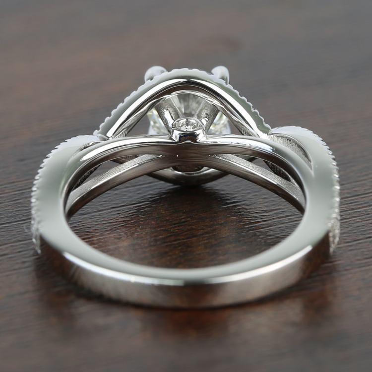 Cross Split Shank 0.92 Carat Round Diamond Engagement Ring angle 4