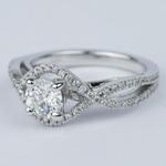 Cross Split Shank Round Diamond Engagement Ring (0.74 ct.) - small angle 2