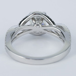 Cross Split Shank Round Diamond Engagement Ring (0.74 ct.) - small angle 4