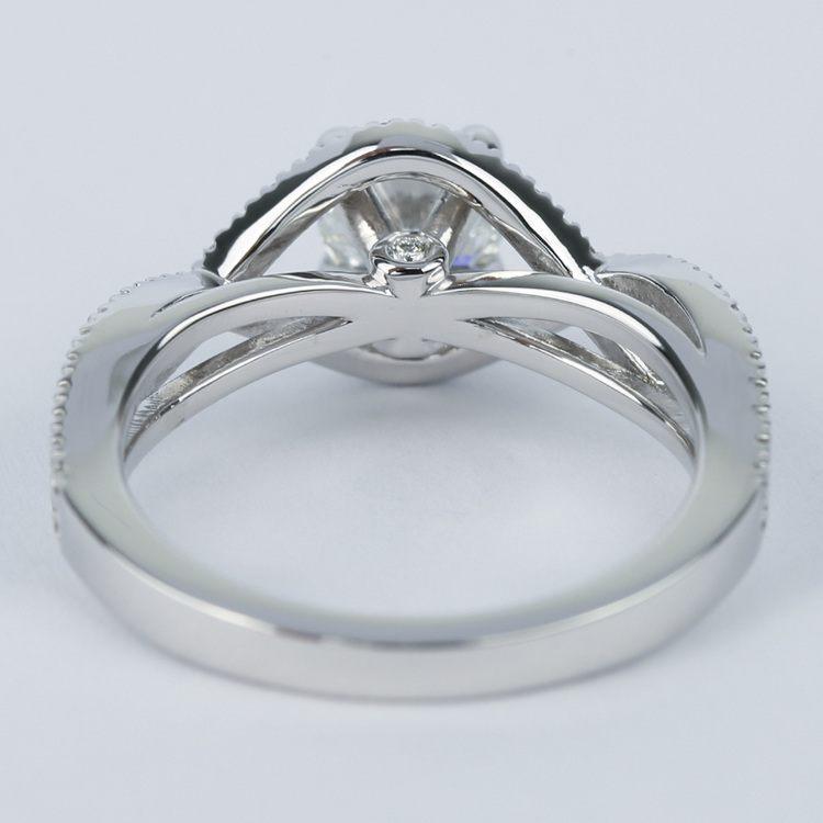 Cross Split Shank Round Diamond Engagement Ring (0.74 ct.) angle 4